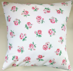"Cushion Cover in Cath Kidston Ashdown Rose White 14"" 16"" 18"" 20"""